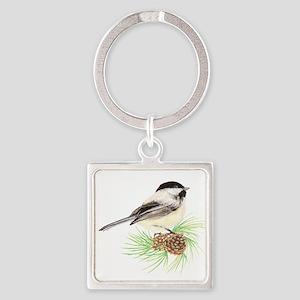 Chickadee Pine Keychains