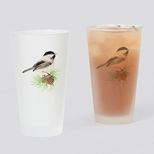 Chickadee Pine Drinking Glass