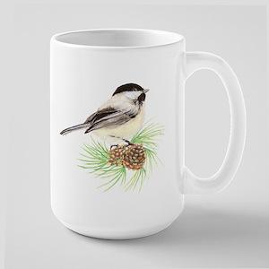Chickadee Pine Ceramic Mugs