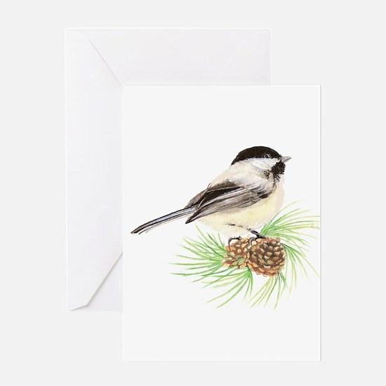 Chickadee Pine.png Greeting Card
