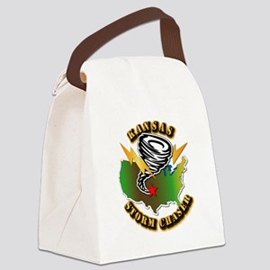 Storm Chaser - Kansas Canvas Lunch Bag