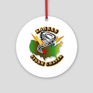 Storm Chaser - Kansas Ornament (Round)