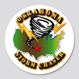 Storm Chaser - Oklahoma Round Car Magnet