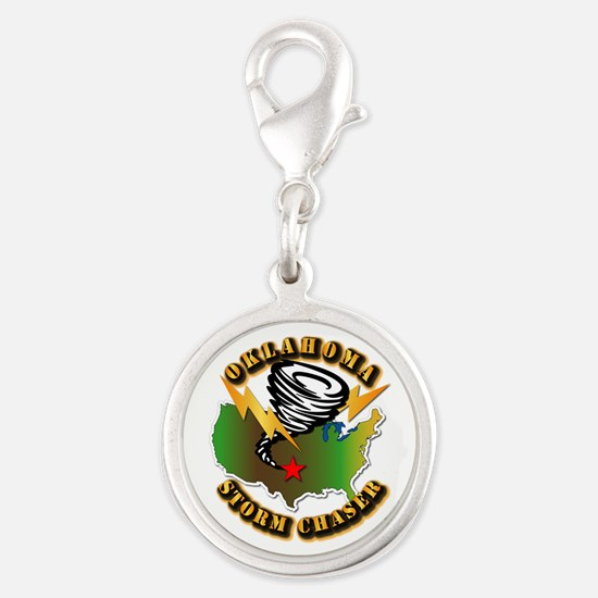 Storm Chaser - Oklahoma Silver Round Charm