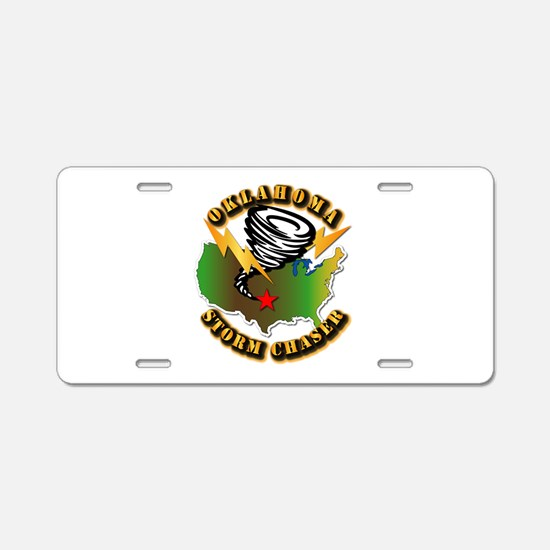 Storm Chaser - Oklahoma Aluminum License Plate