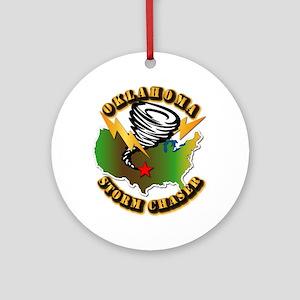 Storm Chaser - Oklahoma Ornament (Round)