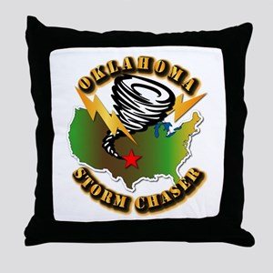 Storm Chaser - Oklahoma Throw Pillow