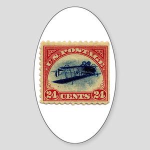 Rare Inverted Jenny Stamp Oval Sticker