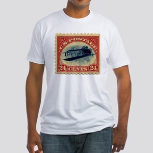 Rare Inverted Jenny Stamp Fitted T-Shirt