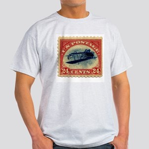 Rare Inverted Jenny Stamp Ash Grey T-Shirt