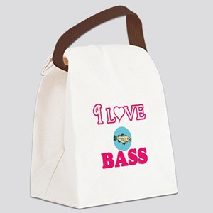 I Love Bass Canvas Lunch Bag