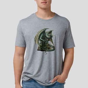 Big Green Dragon Mens Tri-blend T-Shirt