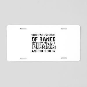 Rumba dance designs Aluminum License Plate