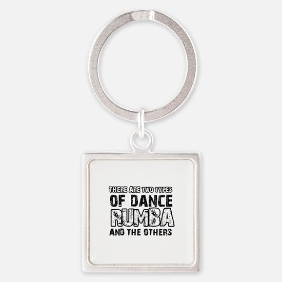 Rumba dance designs Square Keychain