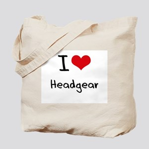 I Love Headgear Tote Bag