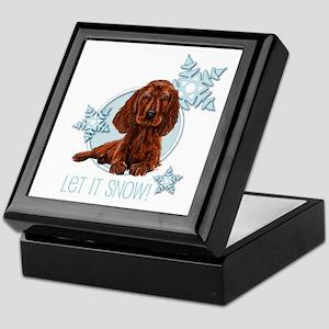 Let it Snow Irish Setter Keepsake Box