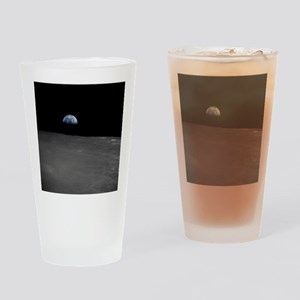 Earth Rise Drinking Glass