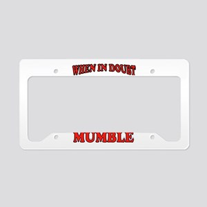 MUMBLE License Plate Holder