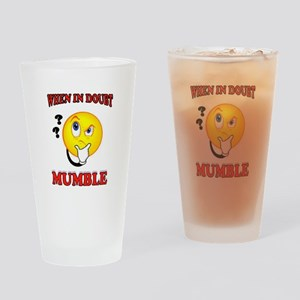 MUMBLE Drinking Glass