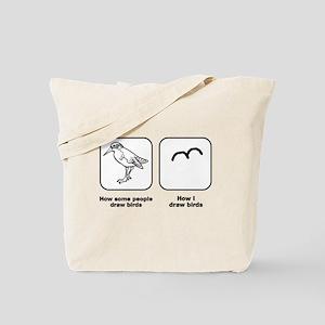Bird Drawings Tote Bag