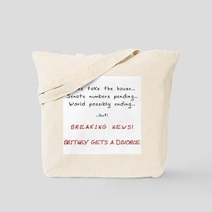 Breaking News Britney Tote Bag