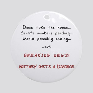 Breaking News Britney Ornament (Round)