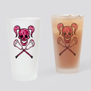 Lacrosse Pink Lady Digital Camo Skull Drinking Gla