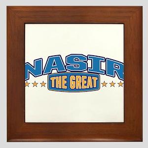 The Great Nasir Framed Tile