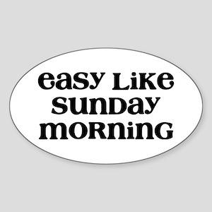 Easy Sunday Sticker (Oval)