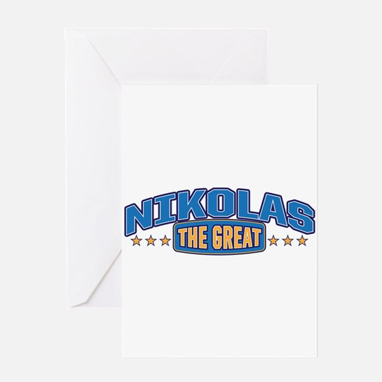 The Great Nikolas Greeting Card