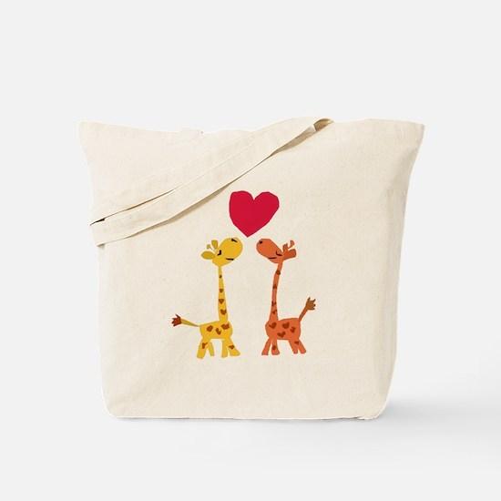 Funny Giraffe Love Tote Bag