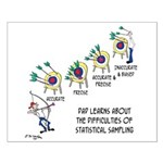 Statistics Cartoon 9225 Small Poster