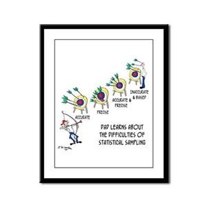 Statistics Cartoon 9225 Framed Panel Print
