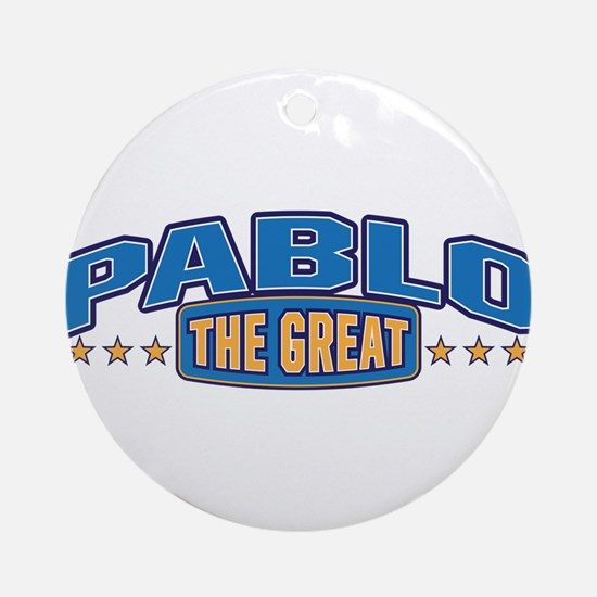 The Great Pablo Ornament (Round)