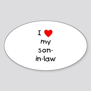 I love my son-in-law Oval Sticker