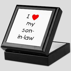 I love my son-in-law Keepsake Box