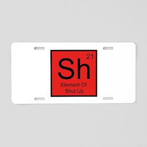 Sh Element For Shut Up Aluminum License Plate