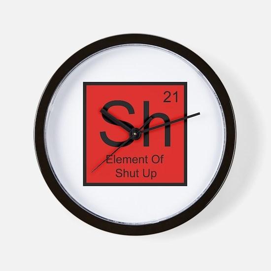 Sh Element For Shut Up Wall Clock