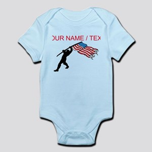 Custom Soldier Planting American Flag Body Suit
