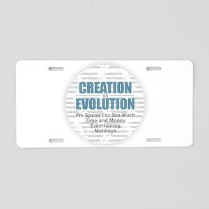 Creation vs Evolution Aluminum License Plate