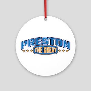 The Great Preston Ornament (Round)