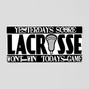 Lacrosse Yesterdays Score Aluminum License Plate