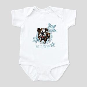 Let it Snow Bulldog Infant Bodysuit
