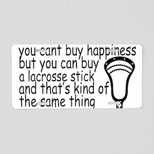 Lacrosse Happiness Aluminum License Plate