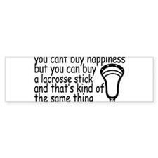 Lacrosse Happiness Bumper Sticker