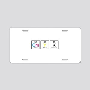 CMYK Elements Aluminum License Plate
