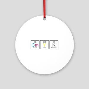 CMYK Elements Ornament (Round)