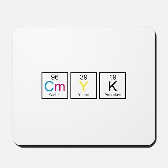 CMYK Elements Mousepad