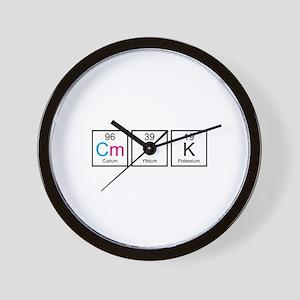 CMYK Elements Wall Clock