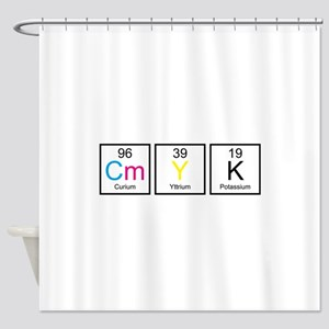 CMYK Elements Shower Curtain